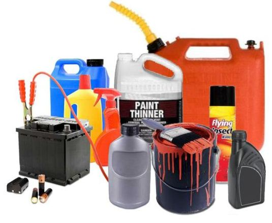 Household Hazardous Waste materials option 2