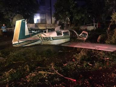 2017-09-22 Plane Down Glenoaks Blvd and Allen Ave in Glendale