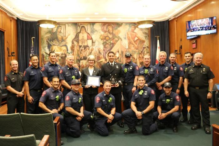 2018 Firefighter of the Year Presentation at City Council Meeting