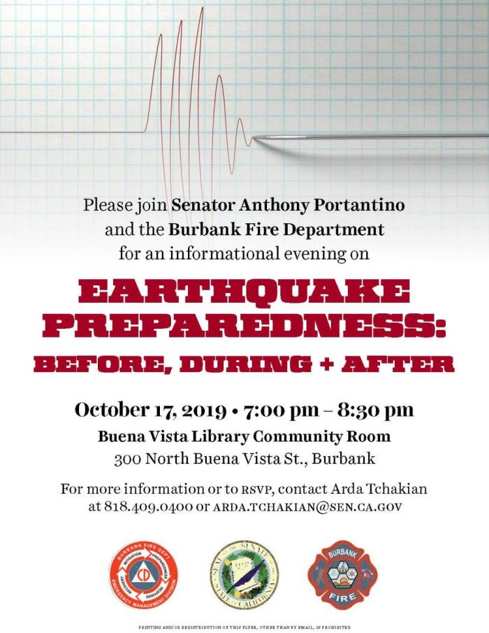 Earthquake Preparedness Flyer