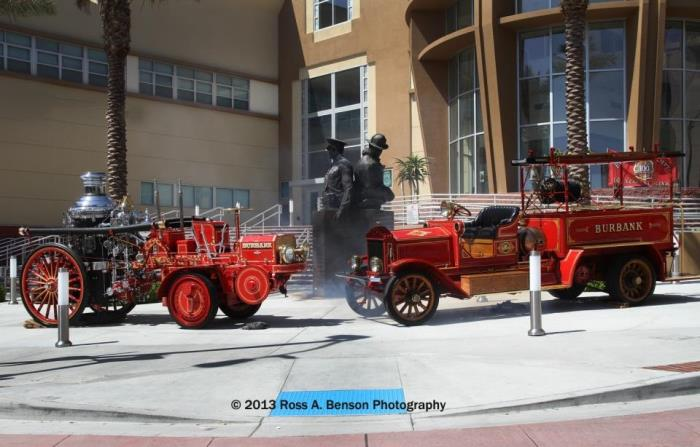 1915 Christie Steamer and 1913 Moreland Hose Wagon