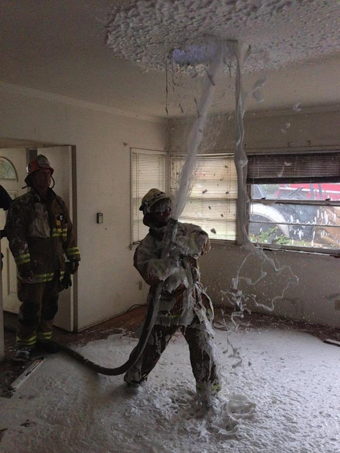 Vertical Ventilation Training Utilizing Compressed Air Foam